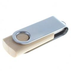 USB nøgle i bambus med logo