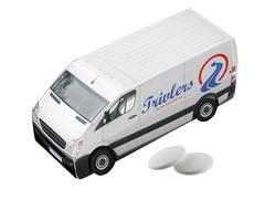 Mintpastiller pakket i mini lastbil