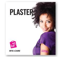 Plastre med logo i kuvert med tryk - indeholder 10 plastre