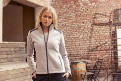 Rigtig smart Zip Fleece jakke fra Craft med logo