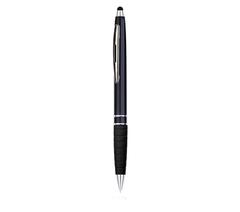 Sort Kuglepen med logo tryk til papir og touch pen til Ipads mv. - Den optimale kombination