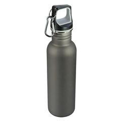 Vandflaske i stål med logo tryk. Indhold 0.7L