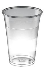 0.4 L Engangs øl- eller cocktailglas med logo tryk
