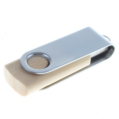 USB nøgle twister i bambus med logo