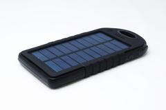 Kraftig solcelle oplader/powerbank med logo - 5000 maH