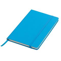 """""""A5"""" Notesbog med lomme, elastikbånd og bånd."""