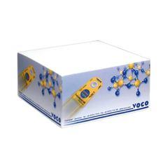 Kubusblok med logo tryk. 10x10x5 cm