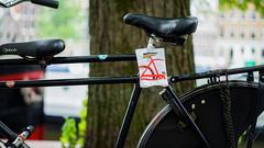 Cykelklud i pose med logo  - Cykel branding der ses!