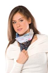 Genanvendt Polyester Bandana, muffedisse, halsrør, halsedisse med logo M/K. Levering 2 uger
