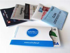 Kreditkortholder med RFID beskyttelse med logo tryk