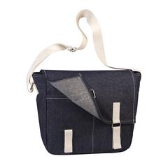 Miljøvenlig og moderne denim taske med logo