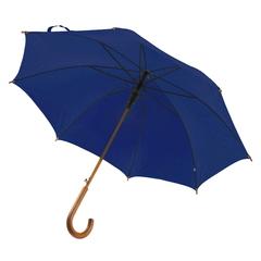 Ny model! Paraply med logo tryk. Med træhåndtag og automatisk åbning