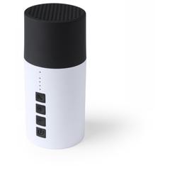 Trådløs højtaler med log. Kan også kan anvendes som mobiloplader.