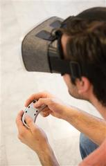 Virtual reality briller med controller
