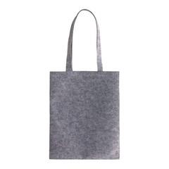 Grå filtpose med logo