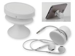 Mobilholder i hvid