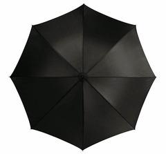 Paraply med logo tryk. Har gummi håndtag og leveres i etui med bærerem