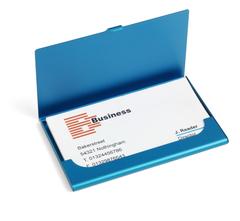 Visitkortholder 5 farver med logotryk i farver eller lasergravering