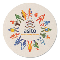 Rund coaster med logo tryk