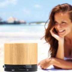 Bambus bluetooth højtaler med logo tryk