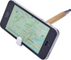 Bambus kuglepen med touchpad og holder til mobiltelefon