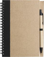 Miljøvenlig notesbog med genanvendt papir, bio materiale