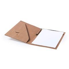 Miljøvenlig konferencemappe med notesblok og kuglepen