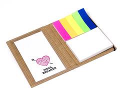 Miljøvenlig bog med 2 selvklæbende blokke og 5 farver  markørblade