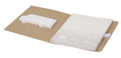 Miljøvenlig notesbog med selvklæbende blok og notesblok