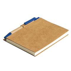 Miljøvenlig notesbog med genanvendt papir, bio materiale. 80 sider