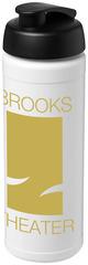 Hvid drikkedunk med låg i 11 kontrastfarver - 750 ml