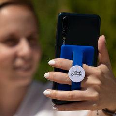 Kortholder og fingerholder til mobiltelefonen