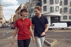 Bæredygtig Active Polo-shirt i unisex model med logo tryk