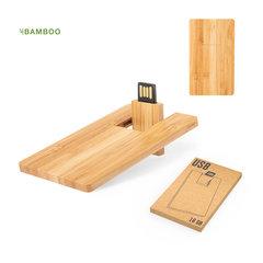 16 GB Bambus USB stick med logo tryk