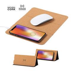 Musemåtte med trådløs oplader til mobiltelefonen
