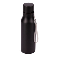 Praktisk vandflaske i stål med logo tryk