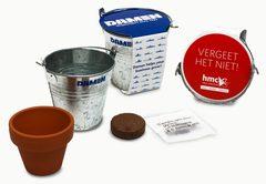 Frø spand - Zink spand og potte med logo omslag