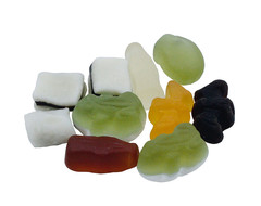 Pose med Mini Color-Rado (vingummi og lakrids) fra Haribo med logo tryk