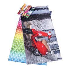 Fra 10 stk. Microfiber Håndklæde med 4 farve tryk på hele fronten. Vælg mellem 3 størrelser