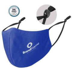 Genanvendeligt Mundbind med logo tryk, justerbar elastik