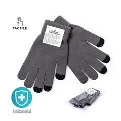 Antibakterielle touchscreen handsker med logo tryk