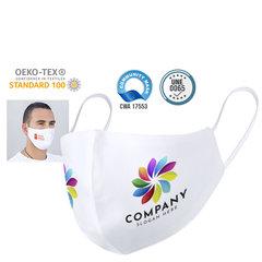 Genanvendeligt hygiejnisk mundbind med logo tryk