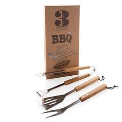 Bambus grillsæt 3 dele med logo