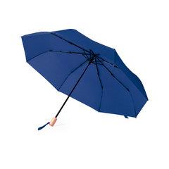 ♻️ Taske Paraply med skærm af genanvendt plast. Har træhåndtag og automatisk åbning