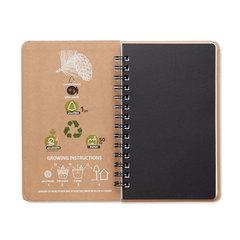 Notesbog med frø så du kan plante et træ