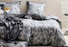 GAVE Södahl Seng 140x220 cm, GOTS 100%, grey, Tapestry