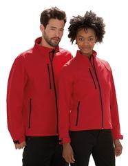 Softshell jakke med logo