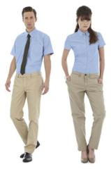 Oxford skjorte i dame- og herremodel