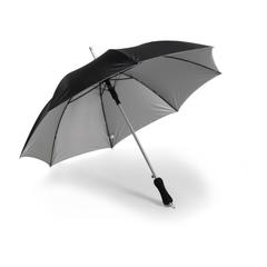 Paraply med logo tryk. Har automatik funktion