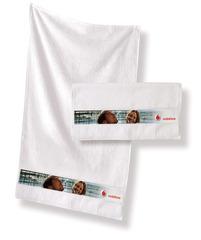 Håndklæde med logo tryk (4 CMYK tryk) (70X140CM)